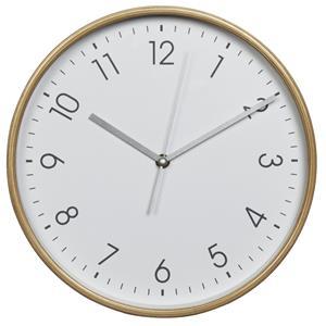 Hama HG-250, drevené nástenné hodiny, tichý chod, biele