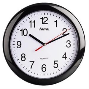 Hama PP-250, nástenné hodiny, quartz čierne