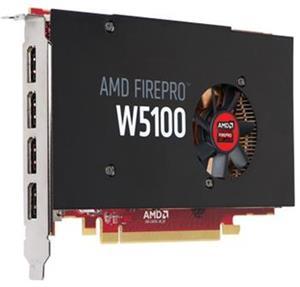 HP AMD FirePro W5100 4GB 4xDP