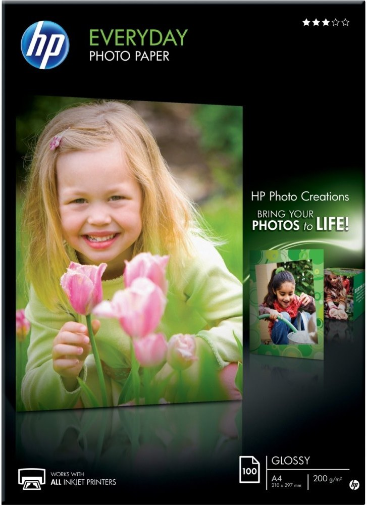 HP Everyday Semi-glossy Photo Paper 200g/m - A4/100 sheets lesklý
