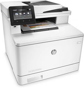 HP LaserJet Pro M477fdn, (color laser)