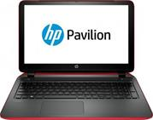 HP Pavilion 15-ab127nc, červený