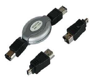i-Tec FireWire cestovní kabel (4/4, 4/6, 6/6) délka 1m