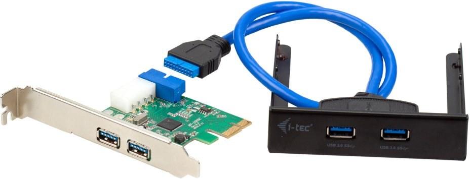 i-tec PCI-e 4x USB 3.0 low profile + Front Panel Extend