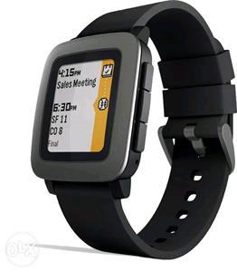 Inteligentné hodinky Pebble Time SmartWatch, čierne