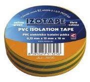 Izolační páska PVC 15/10 zeleno/žlta