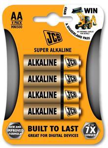 JCB SUPER AA LR06 alkalická batéria, blister 4 ks