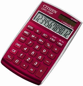 Kalkulačka CITIZEN -CPC-112 červená