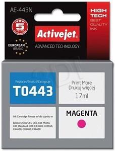 kazeta ActiveJet kompatibilná s Epson T0443, magenta, 16ml