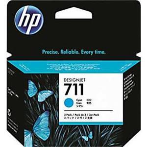 kazeta HP CZ134A No. 711 Cyan (29 ml.) 3 pack