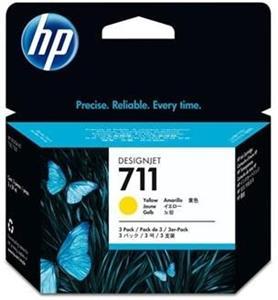 kazeta HP CZ136A No. 711 Yellow (29 ml.) 3 pack