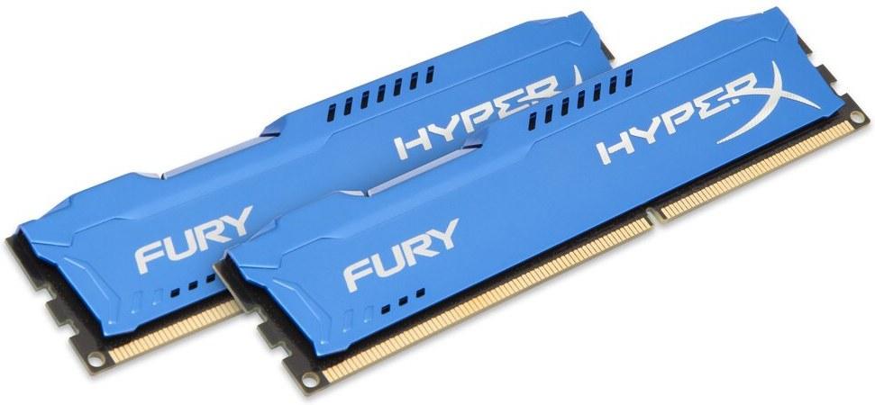 Kingston HyperX Fury, 1866Mhz, 8GB(2x4GB), DDR3, modrá