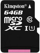 Kingston microSDXC, 64GB ,UHS-I 45R/10W