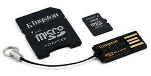 Kingston Mobility kit G2 microSDHC 16GB + adaptér a čítačka