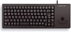 klávesnica Cherry G84-5400LUMEU-2 USB, tmavě šedá, trackball, anglická