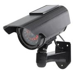 KÖNIG atrapa bezpečnostní kamery s blikající LED+SOLAR/ venkovní i vnitřní použití