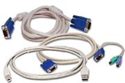KVM kabel, 1.8 m, PS/2, USB, VGA, audio kit