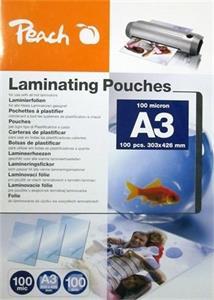 Laminovacia fólia Peach PP500-01 lesklé 100ks A3, 100mic