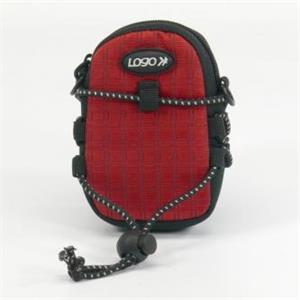 Logo púzdro na fotoaparát, nylón, červené, 10,7 x 6,2 x 2,4cm