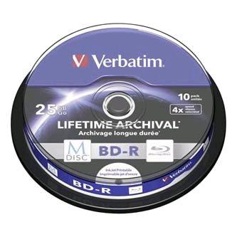 M-DISC VERBATIM BD-R 4x 25GB Printable 10ks/cake