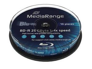 Mediarange BD-R 10-pack cakebox 4X/25GB