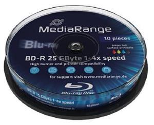 MediaRange BD-R 25GB 4x Printable 10-cake