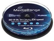 Mediarange BD-R DL 10-pack cakebox 6X/50GB