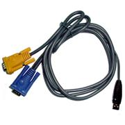 Micronet 3-in-1 USB KVM Cable C200L-1 , 1,8m