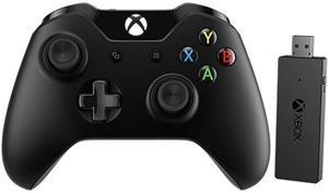 Microsoft Xbox One Gamepad + bezdrôtový adaptér pre Windows 10
