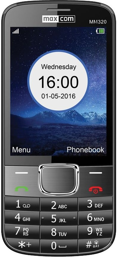 Mobilný telefón Maxcom Classic MM320, čierny