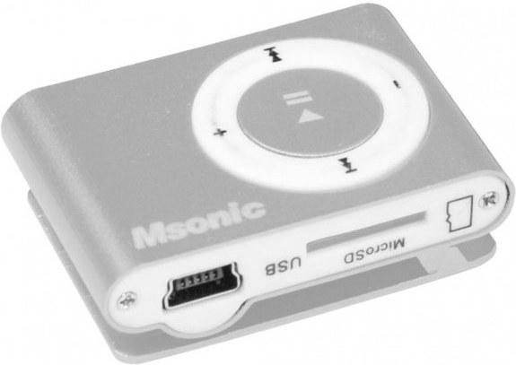 MSONIC MP3 prehrávač s čítačkou kariet, strieborný