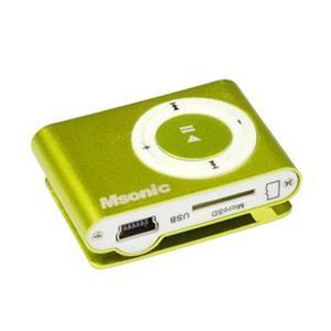 MSONIC MP3 prehrávač s čítačkou kariet, žltý