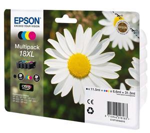 Multipack EPSON T1816 (BK/C/M/Y) XL - 18XL