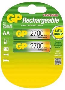 Nabíjacia bateria GP NiMH 2700 mAh R6 (AA, tužka), blister, 2ks