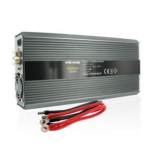 Napäťový menič Whitenergy AC/DC z 24V na 230V 1500W, 2 zásuvky