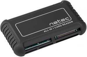 Natec BEETLE, čítačka kariet, All-In-One, SDHC, USB 2.0, čierna