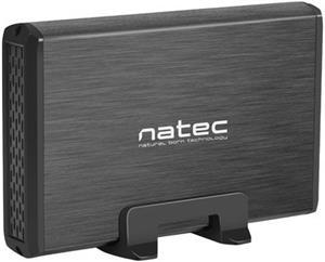 Natec Rhino externý box pre 3.5'' SATA HDD USB3.0, hliníkový, čierny