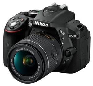 Nikon D5300 + AF-P 18-55 VR, fotoaparát, čierny