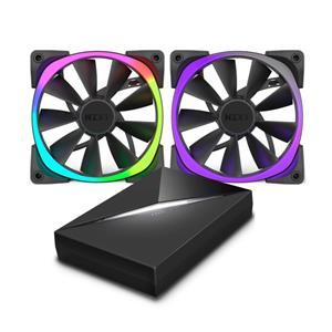NZXT Aer RGB, 120mm, 2x ventilátor + panel HUE+