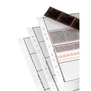 obal na negatívy, 4 pásy po 4 zábery (24x36 mm)/po 3 zábery (6x6 cm), pergamen matný, A4, 100 ks