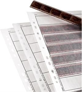 obal na negatívy, 7 pásov na 6 obrázkov 24x36 mm, pergamen matný, 260x310 mm, 25 ks