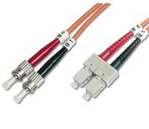 Optický patch kábel, SC-ST 50/125, 1m