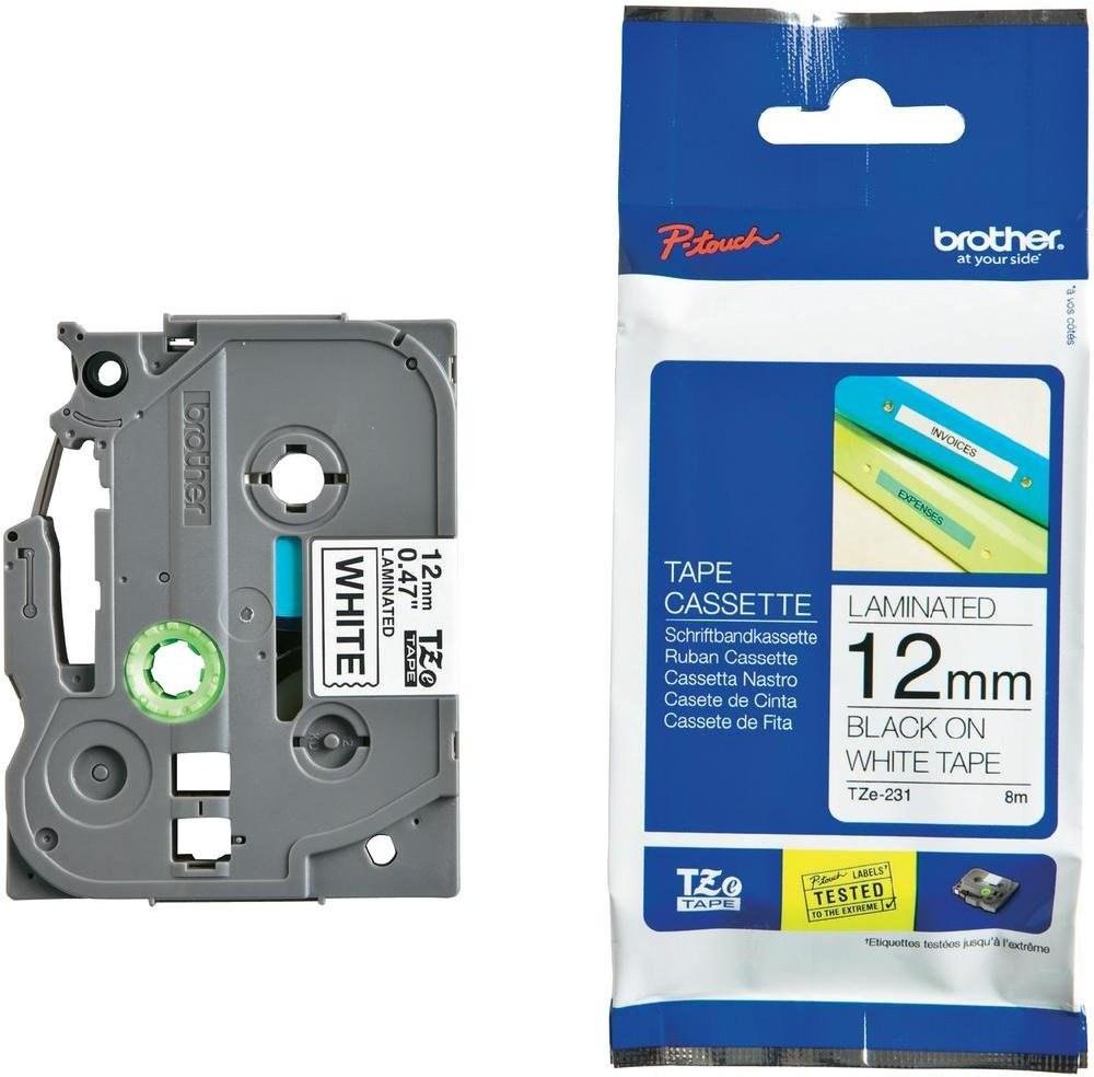 páska Brother TZe-231 12mm, biela