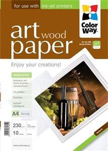 "Photo paper ColorWay ART glossy texture ""wood"" 230g/m2, A4, 10pc. (PGA230010WA4)"