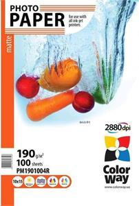 Photo paper ColorWay matte 190g/m, 10x15, 100pc. (PM1901004R)