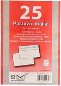Poštové obálky C6 samolepiace 25 ks