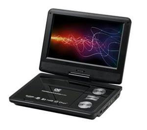 """Prenosný DVD prehrávač ORAVA s LCD 9"""", DVB-T2 (MPEG2/4), otočný monitor, USB, SD"""