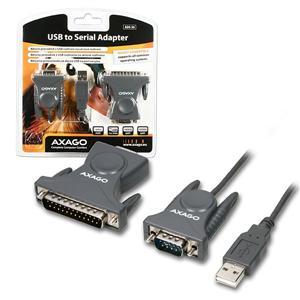 Prevodník AXAGO USB ------> 1xRS232 + DB25 adaptér