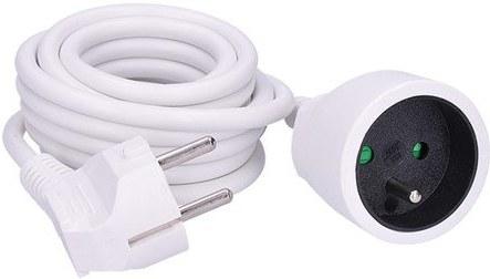 Prívodný predlžovací kábel 230V, 1x, 3.0m, biely