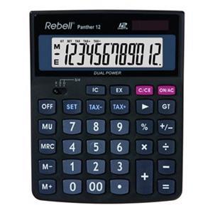 Rebell RE-Panther 12 BX, kalkulačka, čierna, stolná, dvanásťmiestna